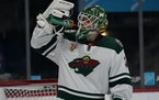 Kaapo Kahkonen will be in net Friday night when the Wild takes on the Blues at Enterprise Center in St. Louis.