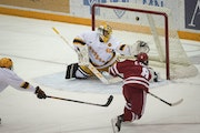 Wisconsin forward Cole Caufield scored the game winner against the Gophers on Feb. 5.