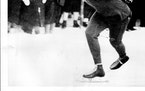 BOBBY FITZGERALD • 1923-2005 The Minneapolis speedskater, shown racing in Norway in 1948, came back from a serious back injury to win an Olympic med