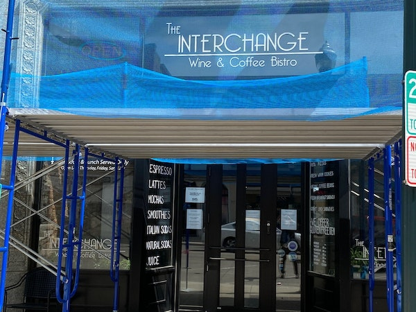 The Interchange Wine & Coffee Bistro is in downtown Albert Lea. A warrant has been issued for the arrest of owner Lisa Hanson, who failed to turn up f
