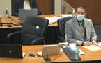 In this image from video, former Minneapolis police officer Derek Chauvin, listened Friday at his trial in Minneapolis in the death of George Floyd.