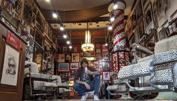 At HiFi Hair and Records in Minneapolis, Jon Clifford welcomes back his customers — and all their COVID hair. He even made videos for them during lo