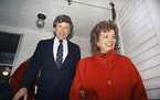 Former Colorado Sen. Gary Hart and his wife, Lee, shown in 1987.
