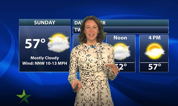 Evening forecast: Low of 41; partly cloudy and breezy