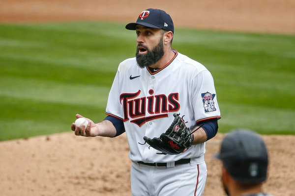 Twins righthander Matt Shoemaker was ejected after giving up his second home run in the sixth inning Sunday.