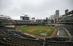 The scoreboard at Target Field explained the postponement of Monday's game.