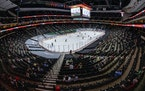 Xcel Energy Center will sit empty tonight.