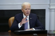 """""""We should listen to Daunte's mom, who is calling for peace and calm,"""" President Biden said today."""