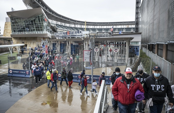 Twins fans left Target Field after the team announced that Monday's game with the Red Sox was postponed. The teams are scheduled to play day games T
