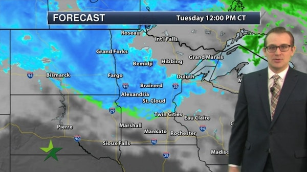 Morning forecast: Snow showers, mostly PM; high 40
