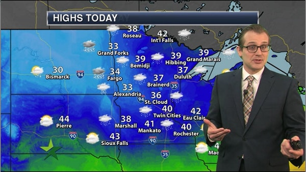 Afternoon forecast: 40, cold, windy, snowy