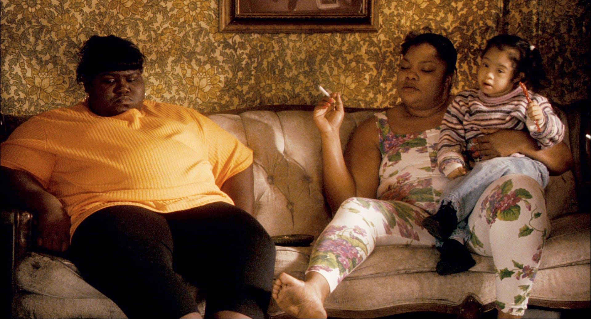 Gabourey Sidibe and Mo'Nique in 'Precious.'
