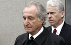 Former financier Bernie Madoff left federal court in Manhattan, in March 2009.