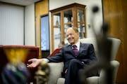 Glen Taylor in his North Mankato office. (GLEN STUBBE/Star Tribune)