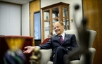 Glen Taylor in his North Mankato office. (GLEN STUBBE/Star Tribune)