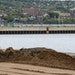 Sediment dredged from the bottom of the Duluth Harbor was pumped onto Park Point beach last fall as part of an effort to raise the beach front and pro