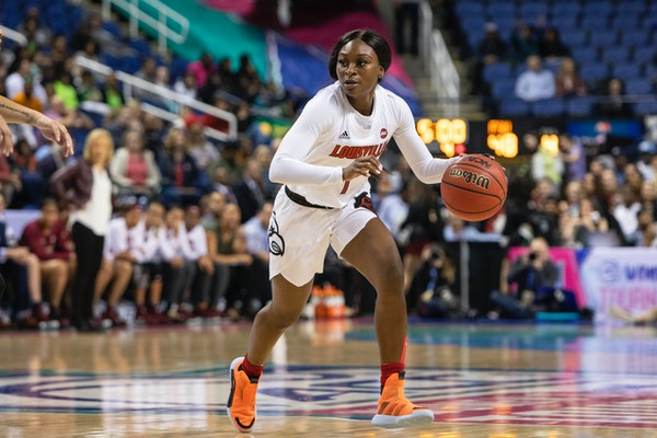 Louisville guard Dana Evans, driving above against Oregon, is a player the Lynx may consider if they want to add depth to their backcourt after tradin