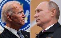 U.S. President Joe Biden (left) and Russian President Vladimir Putin.
