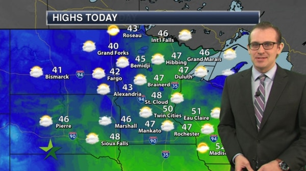 Morning forecast: Cloudy, cool; high 50