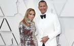 Alex Rodriguez with Jennifer Lopez at the Academy Awards on Sunday, Feb. 24, 2019, in Hollywood, California.