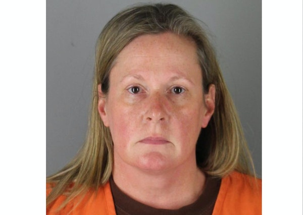 Kimberly A. Potter in a booking photo Wednesday at the Hennepin County jail.