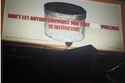 Someone vandalized Xavier Tavera's billboard message. Photo via @38thandchicagogfs Instagram.