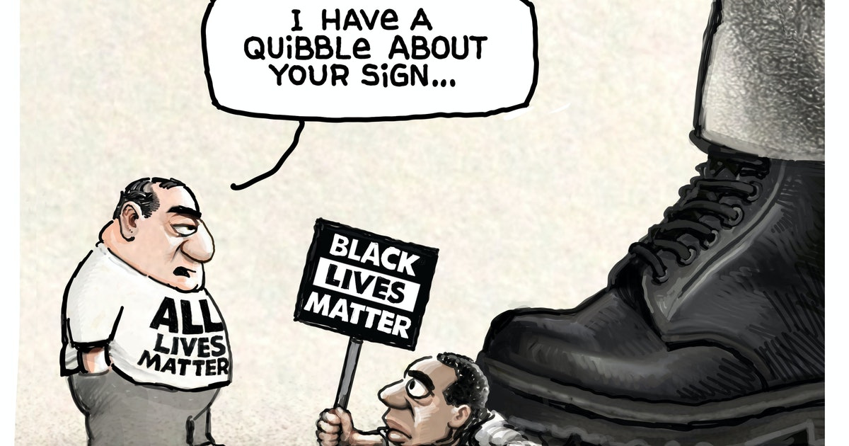 Sack cartoon: A quibble about the sign