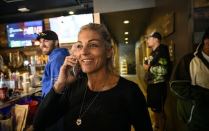 This photo from December 2020 shows Lisa Monet Zarza at Alibi Drinkery in Lakeville.