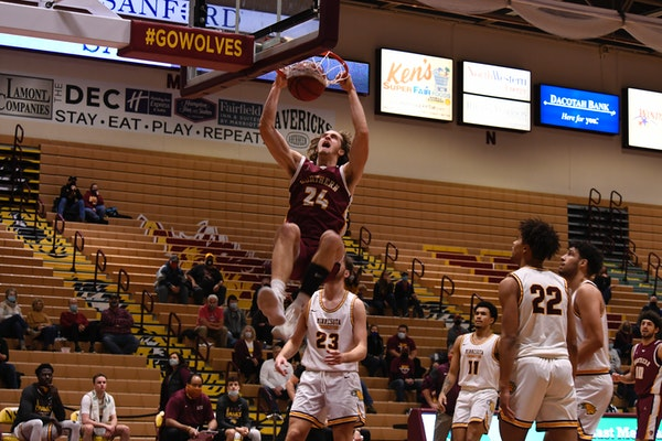 Parker Fox led Northern State in scoring the past two seasons. This season, he averaged 22.3 points and 9.9 rebounds per game.