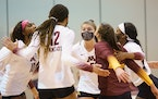 The Gophers volleyball team swept Georgia Tech on Thursday night in Omaha in the second round of the NCAA tournament.