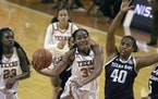 Texas center Charli Collier was selected with the first pick in the WNBA draft Thursday