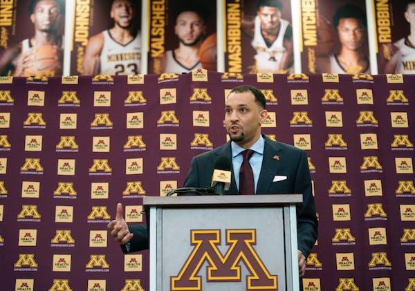 The new Gophers men's basketball coach Ben Johnson