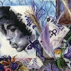 Selection from a Dan Lacey painting of the memento-covered fence outside Prince's Paisley Park.