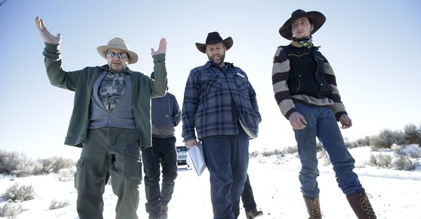 The Bundy family at Malheur National Wildlife Refuge near Burns, Ore., in 2016.