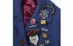 An undated photo provided by David Lewis Taylor, an assortment of brooches old and new. ÒThese days, better than a tweet,Ó as one stylist said of br