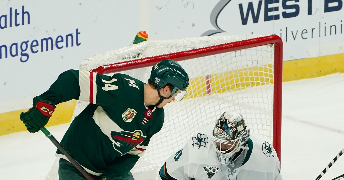 Wild kicking off weekend back-to-back vs. Sharks