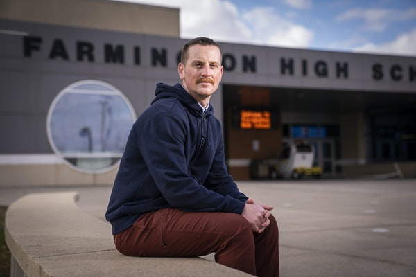 Farmington High School math teacher and diversity club advisor Michael Klein posed for a portrait. ] LEILA NAVIDI • leila.navidi@startribune.comBACK