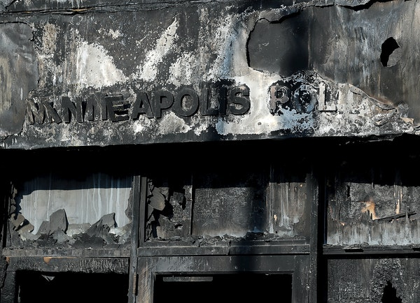 The Minneapolis police Third Precinct was looted and torched during last summer's civil unrest. Authorities say equipment and files were taken from