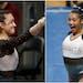 Ona Loper and Maya Hooten of Gophers gymnastics.