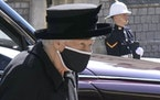 Britain's Queen Elizabeth II arrives ahead of Britain Prince Philip's funeral at Windsor Castle, Windsor, England, Saturday April 17, 2021. Prince