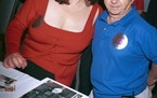"Actors Lisa Loring (Wednesday) and Felix Silla (Cousin Itt) from the mid-60's television series ""The Addams Family"" attend the ""Hollywood Coll"