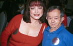 "Actors Lisa Loring (Wednesday) and Felix Silla (Cousin Itt) from the mid-60's television series ""The Addams Family"" attended the ""Hollywood Co"