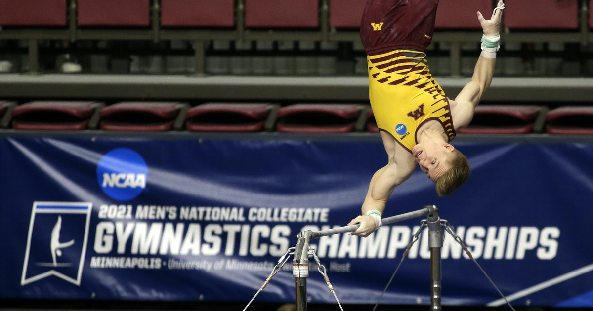 Gophers men's gymnastics finishes 118-year history with 5th-place finish; Shane Wiskus wins two individual titles