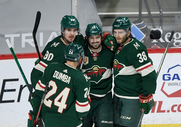The Wild's offense is rolling after a 5-2 win over the Sharks on Saturday at Xcel Energy Center.