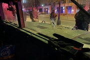 A Minnesota National Guard security team says it was fired upon in a drive-by shooting early Sunday morning near the intersection of Penn Avenue and B