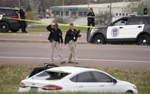 BCA agents began investigating the scene of an officer-involved shooting in Burnsville on Sunday, April 18.