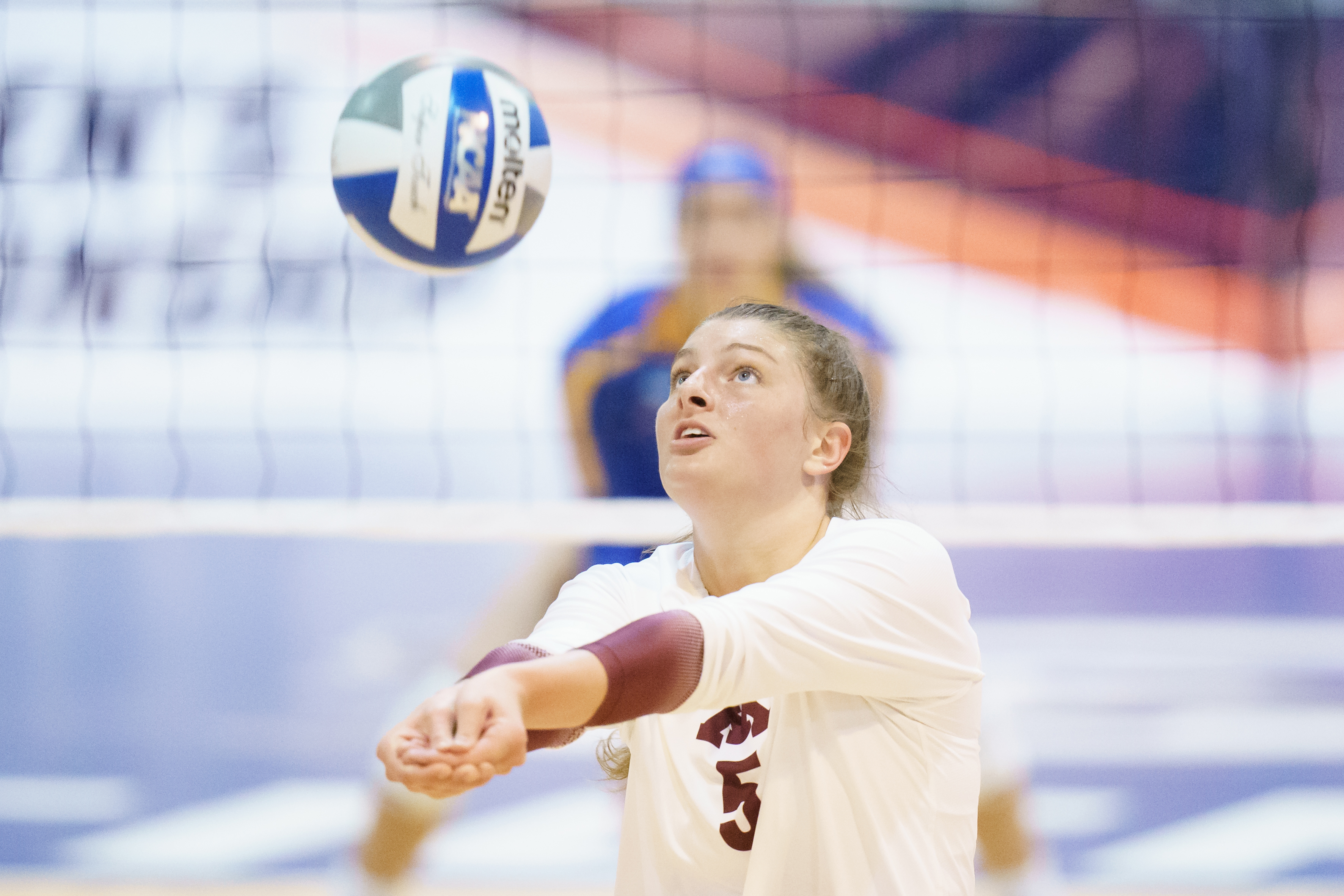 Gophers setter Melani Shaffmaster put a ball in play against Pittsburgh on Sunday.