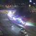 MNDOT traffic cameras showed smoke coming from the Lowry Tunnel after a fatal crash on westbound Interstate 94 on Sunday, April 18.