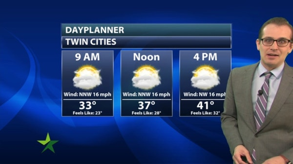 Morning forecast: Chilly, mostly cloudy, high 42