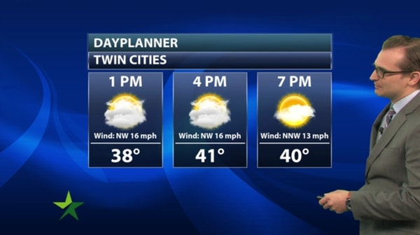 Afternoon forecast: Chilly, mostly cloudy; high 42